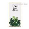 Love Begins At Home Tropical Green Leaf Canvas Art