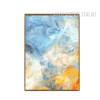 Blue Yellow Modern Abstract Art