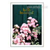 Pink Flowers Hello Beautiful Words Canvas Print