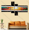 Handmade Painting Colorful Striped