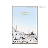 Mediterranean Scenery White Cityscape Canvas Print