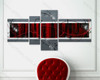 split wall painting Red Textured