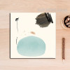 Abstract Blue Black Color Painted Canvas Print