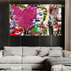 Love Is The Answer Heart Blast Street Art Graffiti Canvas Print