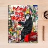 Follow Your Dreams Chimpanzee Street Art Graffiti Canvas Print