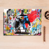 Superheroes Graffiti Wall Art Print