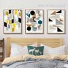 Abstract Geometric Symbols Circles Triangles Digital Wall Art
