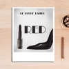 Le Rouge Baiser Words Black and White Art