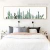 Green Panoramic Cactus Plant Canvas Wall Art