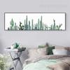 Green Panoramic Cactus Plant Digital Print