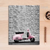 Modern City Pink Scooter Poster Canvas Print
