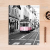 Modern City Pink Train Poster Canvas Print