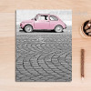 Modern City Pink Car Poster Canvas Print