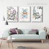 Vintage Flower Bird Butterfly Canvas Wall Prints