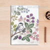 Vintage Flower Bird Canvas Wall Art