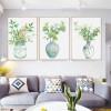Green Plants in Vase Watercolor Canvas Prints