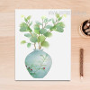 Green Plant in Vase Poster Canvas Wall Art