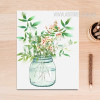 Green Plant in Vase Poster Canvas Print