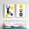 Geometric Deer Animal Circles 2 Piece Canvas Prints