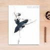 Blue Ballet Dancing Girl Canvas Art