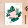 Nordic Scandinavian Plant Leaf Geometric Canvas