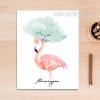 Flamingo Bird Watercolor Art Canvas Print
