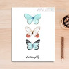 Three Butterfly Watercolor Art Canvas