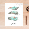 Feathers Watercolor Art Canvas Print