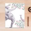 Large Forest Spirit Elephant Animal Leaf Poster Print