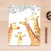 Large Forest Spirit Giraffe Animal Leaf Poster Print