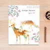 Large Forest Spirit Deer Animal Leaf Poster Print