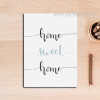 Home Sweet Home Words Poster Print