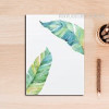 Modern Blue Green Leaf Plant Art
