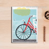 Love is All You Need Red Bicycle Poster Wall Art