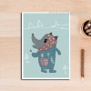 Cartoon Animal Sweet Nursery Decor Art