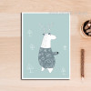 Cartoon Animal Sweet Nursery Wall Art Print