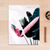 Europe Fashion Green Leaf Pink Feather Canvas Wall Art