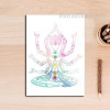Indian Style Poster Buddha Yoga Pattern Home Decor Print