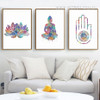 Indian Modern Lotus Buddha Yoga Pattern Home Decoration Canvas Prints