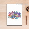 Indian Modern Lotus Pattern Home Decoration Wall Art
