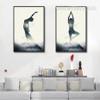 Abstract Lady Yoga Postures Digital Art Canvas Prints