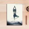 Abstract Lady Yoga Posture Digital Art Canvas