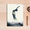 Abstract Lady Yoga Posture Digital Art Print