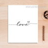 Romantic Wired Love Canvas Print