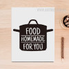 Black and White Food Homemade For You Cooking Words Canvas Print