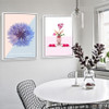 Refresh Purple Flowers with Dog Canvas Painting Prints