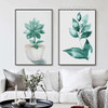 Refreshing Green Leaves in Pot Canvas Prints