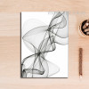 Black And White Abstract Lines Art