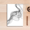 Black And White Abstract Lines Wall Art