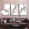 Black And White Abstract Lines Pattern Canvas Print Set